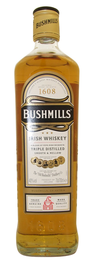 BUSHMILLS IRISH WHISKY 40% 70CL