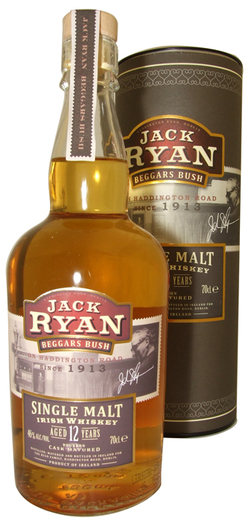 JACK RYAN 'BEGGARS BUSH' IRISH SINGLE MALT 12YO 46% 70CL