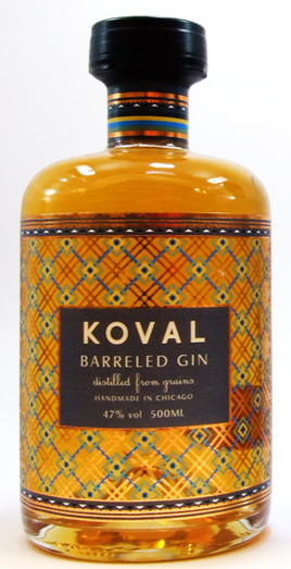 KOVAL BARREL AGED GIN 47% 50CL
