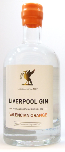 LIVERPOOL VALENCIA ORANGE GIN 42% 70CL