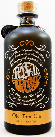 POETIC LICENSE OLD TOM GIN 41.6% 70CL