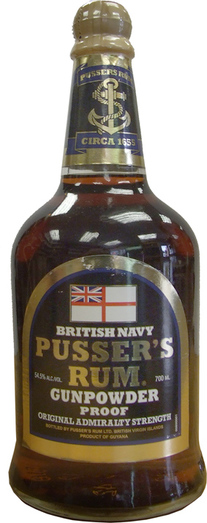 PUSSERS GUNPOWDER 54.5% 70CL