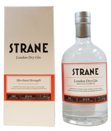 STRANE LONDON DRY GIN 47.4% 50CL