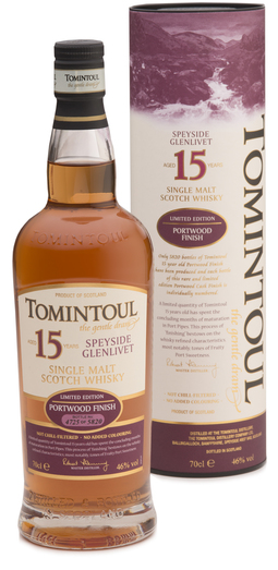 TOMINTOUL 15YO PORT WOOD FINISH 40% 70CL