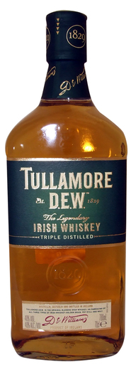 TULLAMORE D.E.W. IRISH WHISKY 40% 70CL