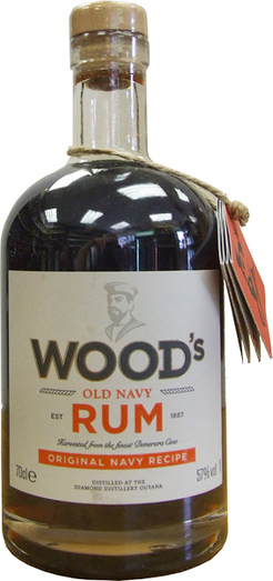 WOODS 100 NAVY RUM 57% 70CL