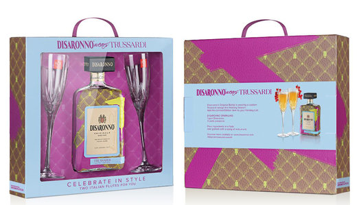 AMARETTO DI SARONNO TRUSSARDI GLASS PACK 28% 70CL