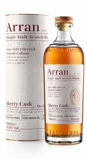 ARRAN SHERRY CASK 55.8% 70CL