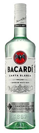 BACARDI WHITE RUM PRICE MARKED £15.99 37.5% 70CL