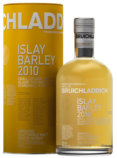 BRUICHLADDICH ISLAY BARLEY 2011 COULL, ROCKSIDE, ISLAND, MULINDRY, STARCHMILL & CRUACH FARMS 50% 70CL