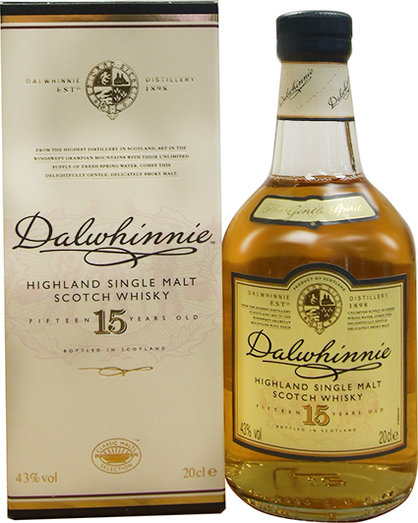 DALWHINNIE 15 YO 43% 20CL