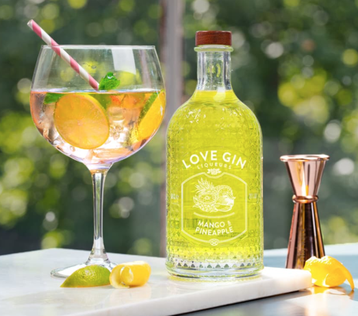 EDEN MILL LOVE GIN MANGO & PINEAPPLE LIQUEUR 20% 70CL