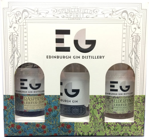 EDINBURGH GIN & LIQUEUR SET 3*20CL WITH RASPBERRY ELDERFLOWER & EDINBURGH GIN