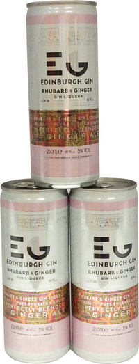 EDINBURGH RHUBARB & GINGER WITH GINGER ALE CAN 5% 25CL