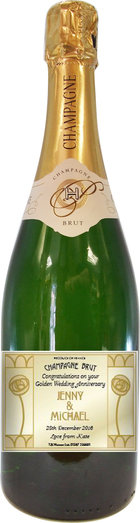HOUSE CHAMPAGNE WITH CUSTOMER LABEL 75CL