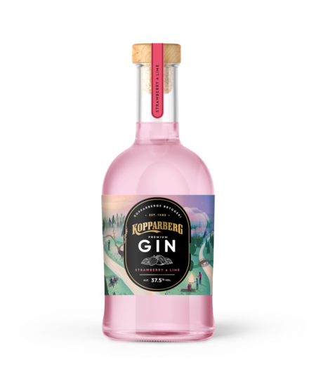 KOPPARBERG STRAWBERRY AND LIME GIN 37.5% 70CL