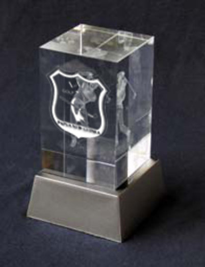 LASER ENGRAVED GOLF BLOCK 8CM TALL * REDUCED TO CLEAR