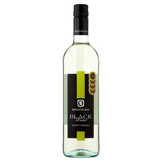 MCGUIGANS BLACK LABEL PINOT GRIGIO 2020 12.5% 75CL