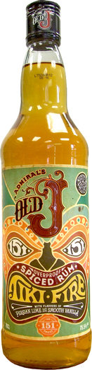 OLD J TIKI FIRE SPICED RUM 75.5% 70CL