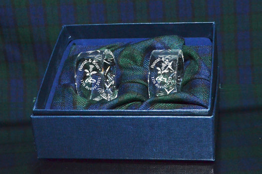PAIR OF PANEL CUT NAPKIN RINGS PRESENTATION BOXED
