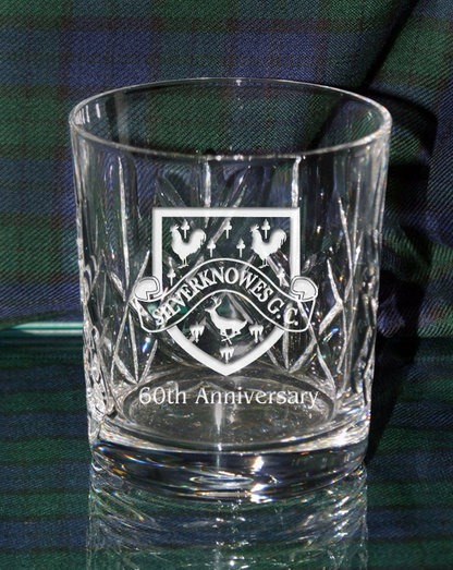 P/C WHISKY GLASS - SWORD CUT