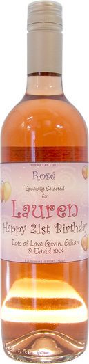CHILEAN ROSE WITH CUSTOMERS LABEL 75CL