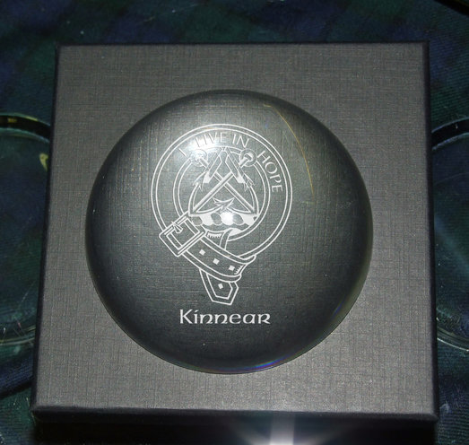 POLISHED PAPERWEIGHT HEAVY DOME 9CM PRESENTATION BOXED
