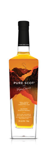 PURE SCOT BLENDED SCOTCH WHISKY VIRGIN OAK 43% 50CL