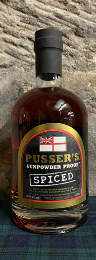 PUSSERS SPICED GUNPOWDER RUM 54.5% 70CL