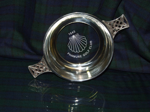 QUAICH - GLASS BOTTOM 4.5 inch DIAMETER