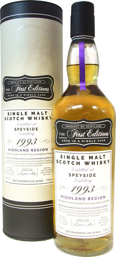 SPEYSIDE 1993 24YO FIRST EDITION (SHERRY CASK) 59.4% 70CL