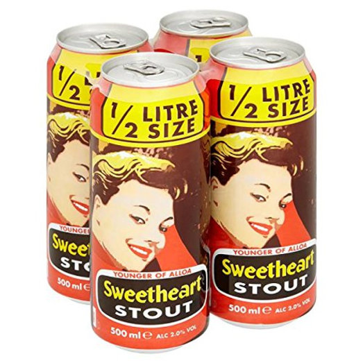 YOUNGERS OF ALLOA SWEETHEART STOUT. 24*500ML CANS