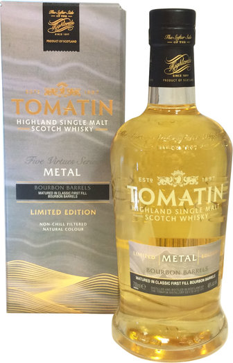 TOMATIN FIVE VIRTUES METAL 46% 70CL