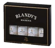 BLANDYS GIFT PACK 4*5CL contains 1 each: Sercial, Verdelho, Bual & Malmsey