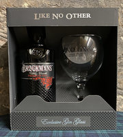 BROCKMANS GIN GLASS PACK 40% 70CL
