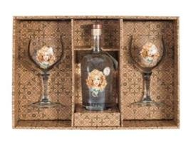DAFFYS GIN AND  2 GLASS PACK 43.4% 70CL