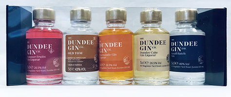 DUNDEE GIN SET - 5 x MINIATURE GIFT BOX