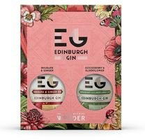 EDINBURGH GIN FULL STRENGTH FLAVOUR PACK WITH GOOSEBERRY & ELDERFLOWER GIN AND RHUBARB & GINGER GIN 40% 2*20CL