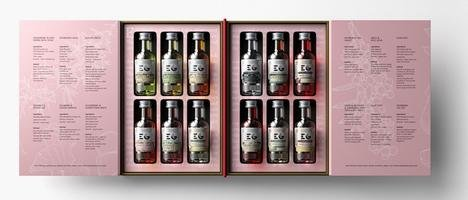 EDINBURGH GIN LIBRARY -  A SELECTION OF GINS & LIQUEURS 12 * 5CL