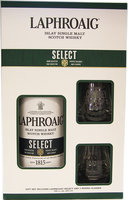 LAPHROAIG SELECT GIFT PACK 40% 70CL DOUBLE GLASS PACK