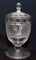 PANEL CUT CRYSTAL  LIDDED CHALICE LARGE 37CM