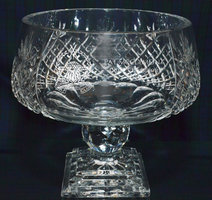 PANEL CUT CRYSTAL PERPETUAL TROPHY LARGE 23CM
