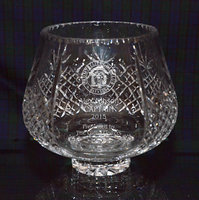 PANEL CUT CRYSTAL TROPHY ROSE BOWL 22CM