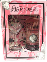PUERTO DE INDIAS STRAWBERRY GIN GLASS PACK 37.5% 70CL
