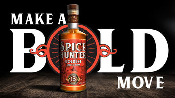 SPICE HUNTER SPICED RUM 38% 70CL