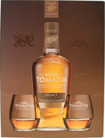 TOMATIN LEGACY 43% 70CL GIFT PACK WITH 2 GLASSES