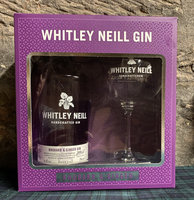 WHITLEY NEILL RHUBARB & GINGER GIN GIFT PACK 43% 70CL