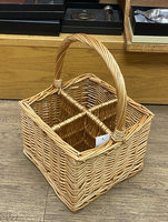 WICKER WINE BOTTLE CARRIER FOR 4